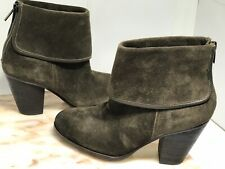 Vince Camuto Women's Hamilton Suede Ankle Boot -Olive Green  Size 8 / 38
