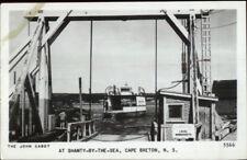 Cape Breton Nova Scotia Ferry Boat John Cabot Shanty by the Sea RPPC Postcard