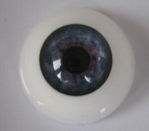 Reborn doll eyes 22mm Half Round  BLUE MIST