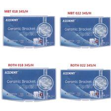 3M Style Dental Ortho Ceramic Brackets MBT& Roth 018/.022/Hooks 345 Marked AZ