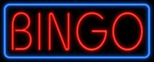 """""""Bingo"""" 24""""x8"""" Neon Sign Store Wall Light Lamp Display With Dimmer"""