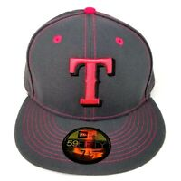 Texas Rangers Mother's Day New Era 59FIFTY Size 7 3/4 Fitted Hat 2016 Gray Pink