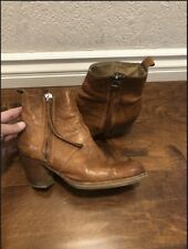 ACNE Studios Brown  Leather Short Ankle Pistol Boots Sz 38 Italy Rare! Sold Out!