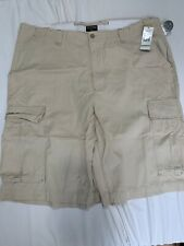 Polo Jeans Co. 100% cotton 6 pocket flat front cargo shorts men's size 44