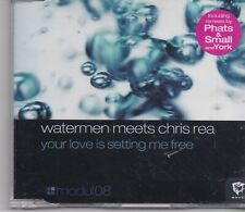 Watermen Meets Chris Rea-Your Love Is Setting Me Free cd maxi single 6 tracks