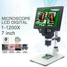 w/Battery MUSTOOL G1200 12MP 7'' HD Digital Microscope 1-1200X Zoom Magnifier