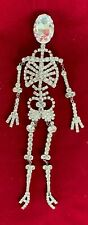Butler and Wilson Crystal Glass Skeleton Pin LARGE