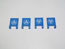 Lego ® Lot Plaque Lisse Drapeau Bleu Stickers Chima