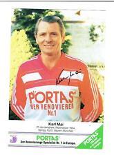 Karl Mai †  Weltmeister 1954 AK Bayern München  mit original Unterschrift !.