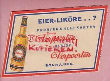 BONN, Werbung 1954, Verpoorten Eier-Liköre