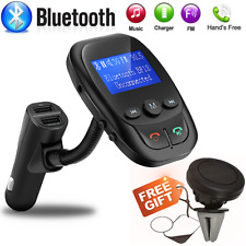 Wireless Bluetooth FM Transmitter MP3 Player AUX Audio Radio USB Charger Adapter