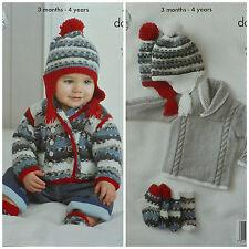 KNITTING PATTERN Baby Jumper Socks Jacket & Helmet DK King Cole 4213