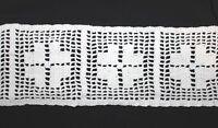 10m//1m nylon spitze Nichtelastisch 13cm gestickt Weiß LD165