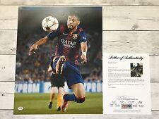 Neymar Jr. Signed Barcelona 16x20 Photo PSA/DNA LOA COA Autographed Brazil a