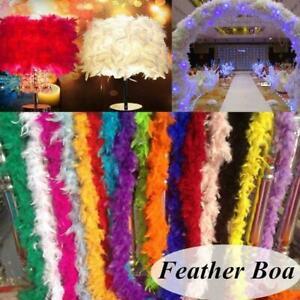 2M Feather Boa Strip Fluffy Crafts Costume Fancy Dress Party Hen Wedding T9Z8