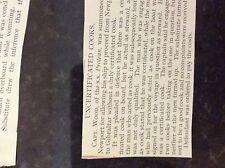 b1f  ephemera 1913 article capt wood ss protean case no cook under sail