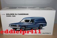 1/18 HOLDEN HJ SANDMAN PANEL VAN 308 IN DEAUVILLE BLUE SURFBOARDS BIANTE AUTOART