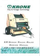 Krone balle ronde kr130 KR160 Kr230 KR260 atelier service manual