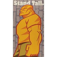 """""""Stand Tall- Be a Man"""" Yellow Rebel Wall Hanging Fabric Panel- 100% Cotton"""