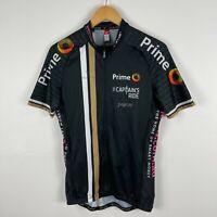 Cuore Mens Cycling Jersey Large Black Short Sleeve Zip Closure Pocket