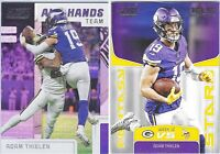 2019 Panini Score Football - Adam Thielen  AHT-4 and FS-12 Lot of 2 cards