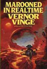 VERNOR VINGE MAROONED IN REALTIME INTERNATIONAL ED HCDJ 1986 1ST ED RARE OOP