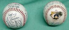 Pittsburgh Pirates facsimile autographed baseballs x3