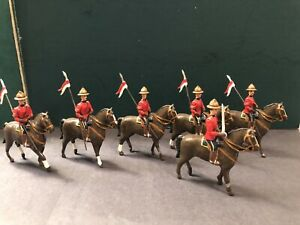 Dorset:  A Troop Of RCMP mounted With Lances. 54mm Metal Models