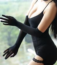 Gants longs noirs transparents voile stretch effet seconde peau glamour sexy