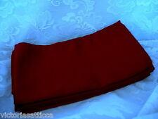 Set of 4 Large Burgundy Herringbone Damask Weave No Iron Dinner Napkins