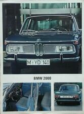 BMW 2000 UK Market  Brochure Leaflet 1967