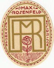 Exlibris Bookplate Klischee Emil Orlik 1870-1932 Rose Initialen