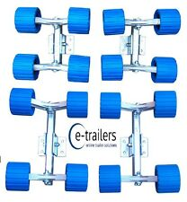 Roller System 16 Wobble Rollers for Boat Jet Ski Trailers Multi Fit  - NO BUNK