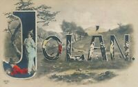 Jolan Name Hand Colored Postcard – udb (pre 1908)