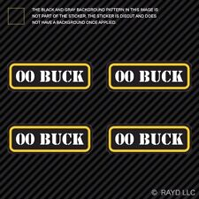 (4x) 00 Buck Ammo Can Sticker Set Decal Self Adhesive molon labe bullet type 2