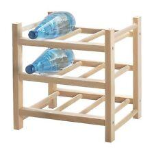 IKEA OF SWEDEN WOOD  Hutten 9 Bottle Wine Rack