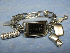 Women's FOSSIL Water Resistant Charm Bracelet Watch w/ New Battery