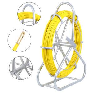 130M Fish Tape Fiberglass Wire Cable Running Rod Duct Rodder Fishtape Puller 6mm