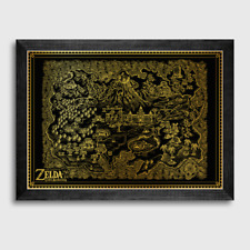 Nintendo Zelda Links Awakening Gold Foil Screenprint A2 - Exclusive