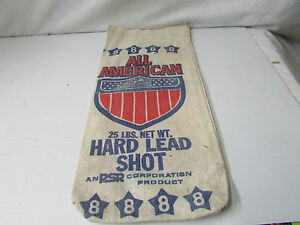 All American 25LBS. Hard Lead Shot No. 8 Canvas Bag - Double Side Print