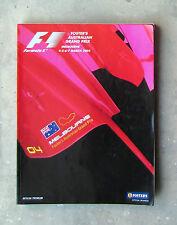 F1 FORMULA 1 2004 AUSTRALIAN GRAND PRIX GP Official Racing Program Manual Book
