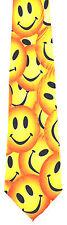 Smiley Faces Mens Necktie Cartoon Funny Face Emoticon Novelty Gift Him Tie New
