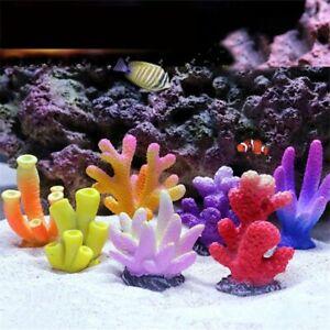 Addfashions 9Pcs Fish Tank Decorations Artificial Coral Ornaments Aquarium Adornment Landscape Resin Reef Rock