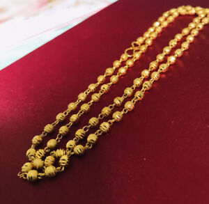 Indian Pakistani 22 Ct Gold Plated Long Necklace Chain