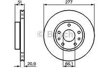 BOSCH Juego de 2 discos freno Antes 277mm ventilado LAND ROVER 0 986 478 992