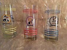 RARE HTF Fiesta  Warner Bros-Looney Tunes Glassware Tumblers