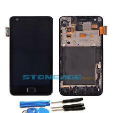 LCD SCREEN FOR SAMSUNG i9100 GALAXY S2 DIGITIZER & FRAME TOUCH BLACK