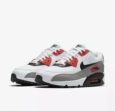 Wmns Nike Air Max 90 UK 7.5 (EUR 42 White/Dust/Solar Red/Black 325213 132