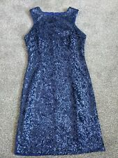 New look blue sequin dress size 10 worn once good condition