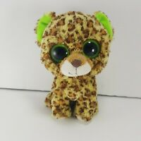 "TY Beanie Boo Tasha the Leopard Glitter Eyes Plush Stuffed Toys Soft 6"""